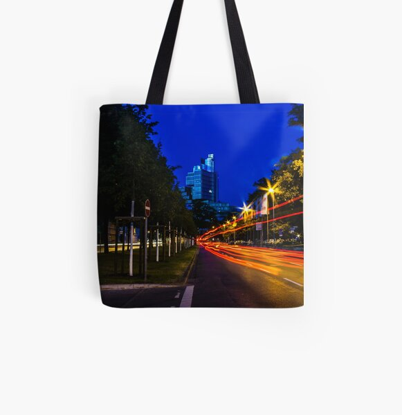 blue hour at friedrichswall (1) All Over Print Tote Bag