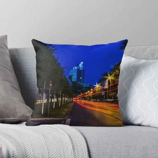 blue hour at friedrichswall (1) Throw Pillow