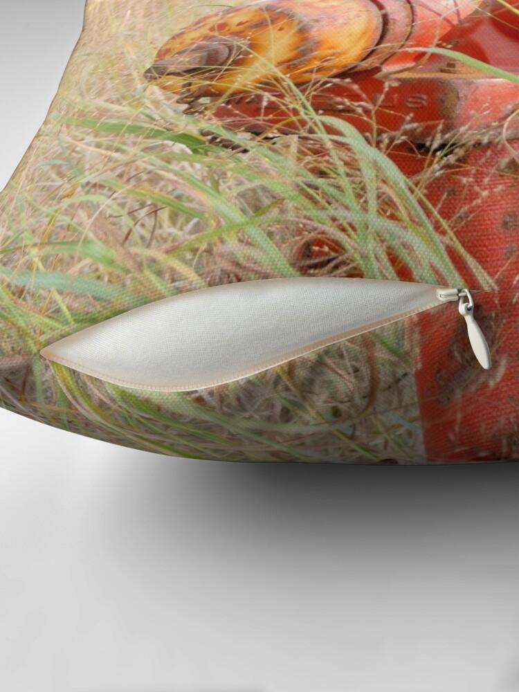 Alternate view of Fire Hydrent in tall grass Throw Pillow
