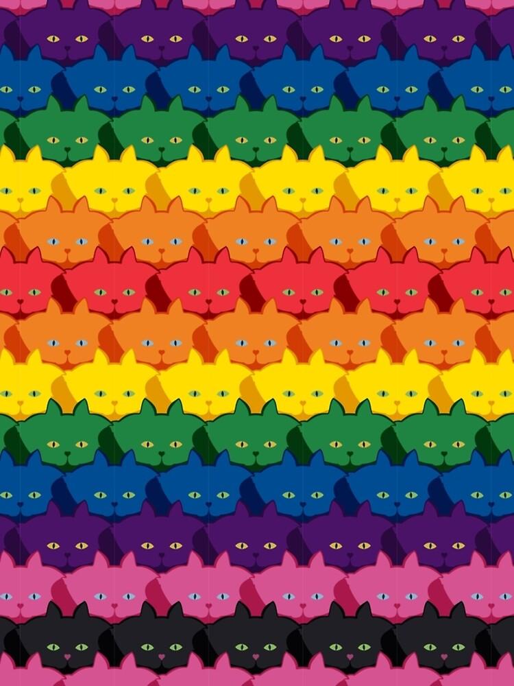 Rainbow Horizontal Stripe Cattern [Cat Pattern] by brentpruitt