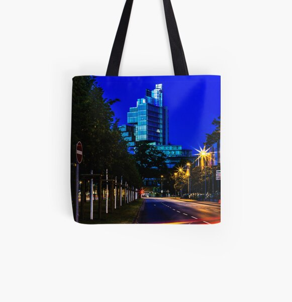blue hour at friedrichswall (2) All Over Print Tote Bag
