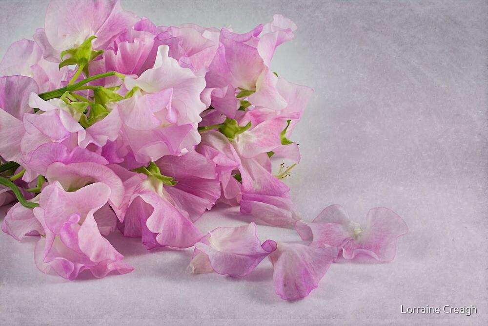 ~ sweet peas ~ by Lorraine Creagh