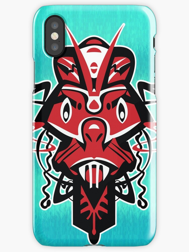 Mask - AngryRed - iPhone case by KenRinkel