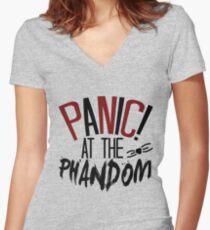 panic! at the phandom Women's Fitted V-Neck T-Shirt
