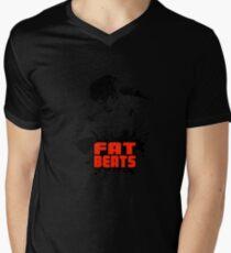 Fat beats Men's V-Neck T-Shirt