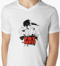 Fat beats Men's V-Neck T-Shirt