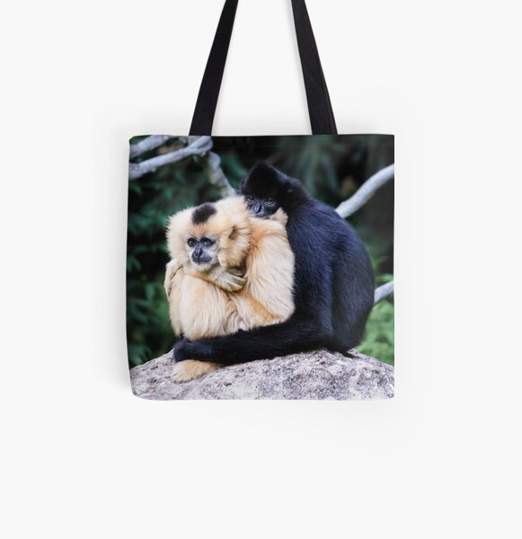 two monkeys All Over Print Tote Bag