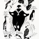 Venus Nana with Australian birds by Natalie Perkins