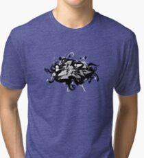 Black graffiti Tri-blend T-Shirt