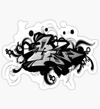 Black graffiti Sticker