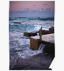 Avalon Ocean Baths Poster