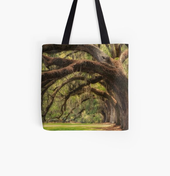 Boone Hall Plantation All Over Print Tote Bag