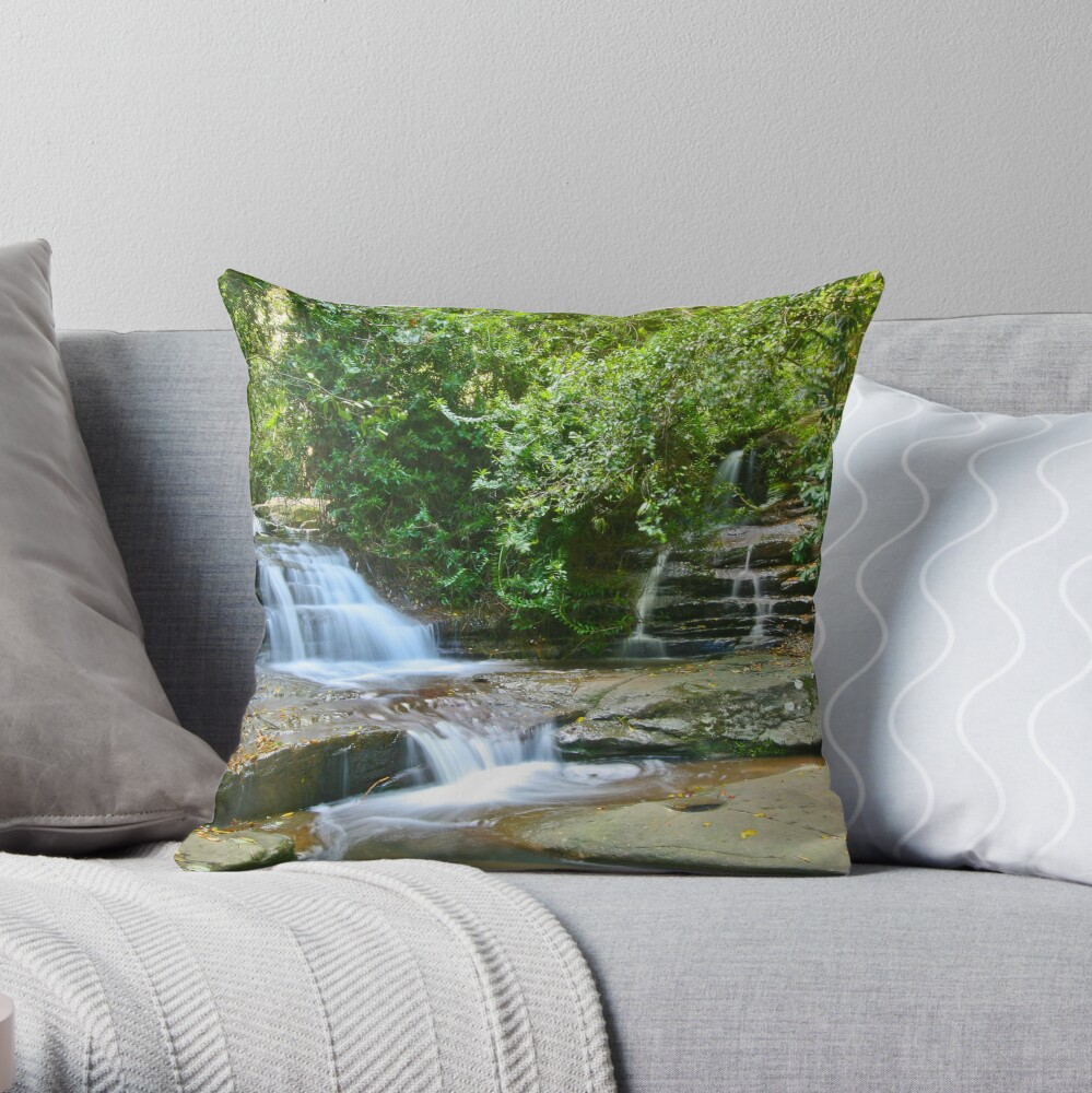Serenity Falls Throw Pillow