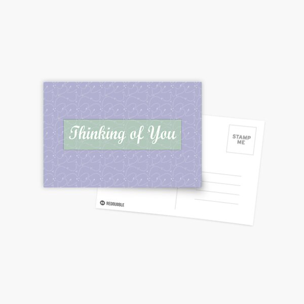 Thinking of you card Postcard