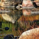 River Rock Abstract by Barbara  Brown