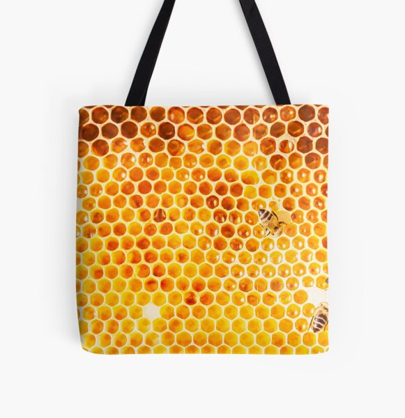 Busy Bees All Over Print Tote Bag