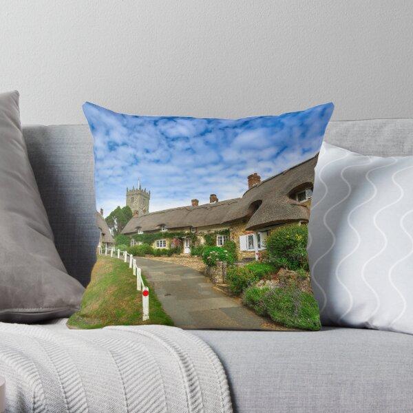 Godshill Village Throw Pillow