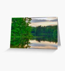 Zephyr Lake at Dusk Greeting Card