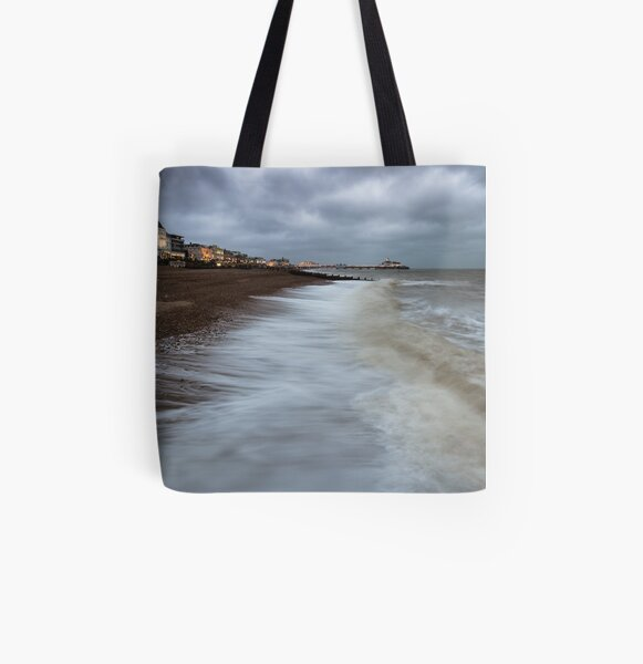 Stormy Eastbourne All Over Print Tote Bag
