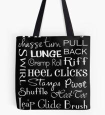 Tap Dance Subway Art Poster Tote Bag