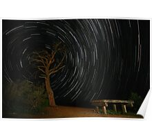 Bunyeroo Valley Lookout Startrail Poster