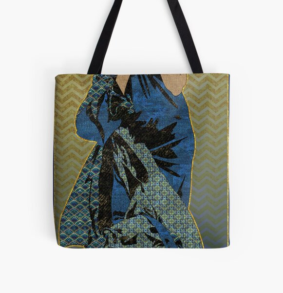Patterned After Mucha All Over Print Tote Bag