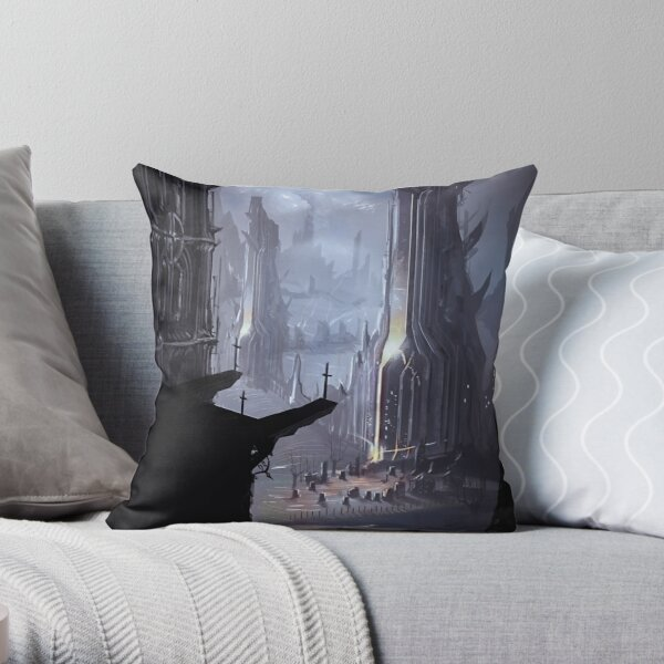Gothic Towers Throw Pillow