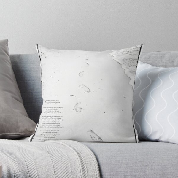 Footprints in the Sand Throw Pillow