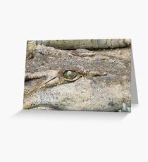 Crocodile's eye Greeting Card