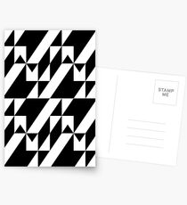 Black and white stairs optical illusion Postcards