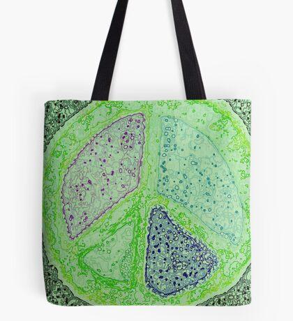 Peace Molecules Tote Bag