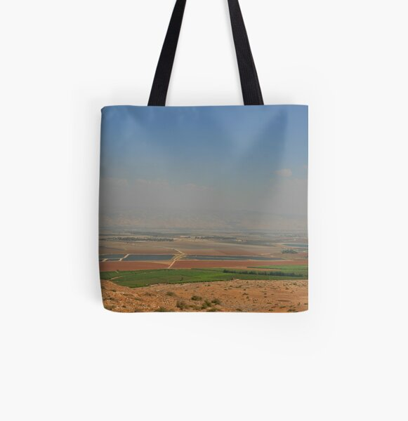 Landscape from the Gilboa All Over Print Tote Bag