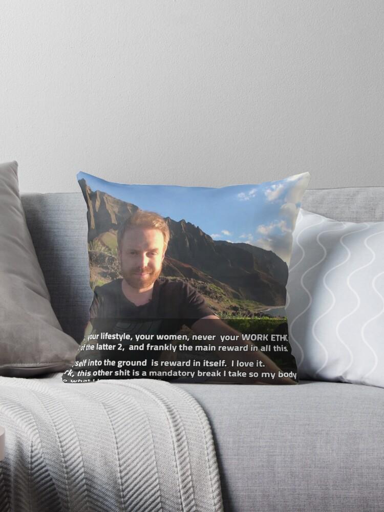 'RSD Tyler' Throw Pillow by raymestalez