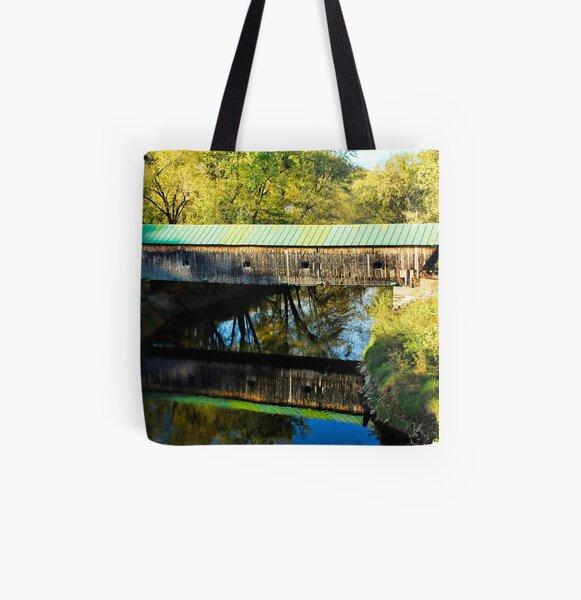 Hammond Covered Bridge All Over Print Tote Bag