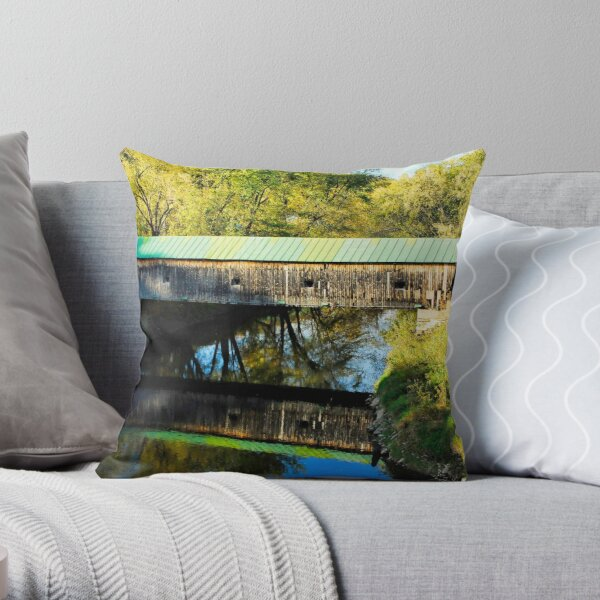 Hammond Covered Bridge Throw Pillow
