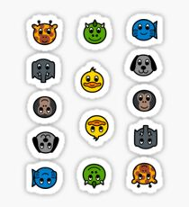 Dansk AnimalNoteHeads Stickers Sticker