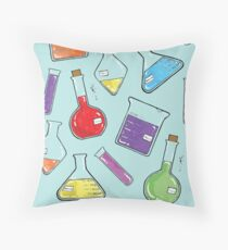 ceLABORATORY glassware Throw Pillow