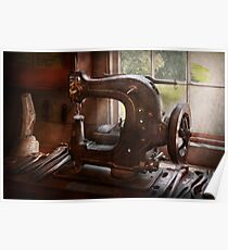 Sewing Machine - Leather - Saddle Sewer Poster