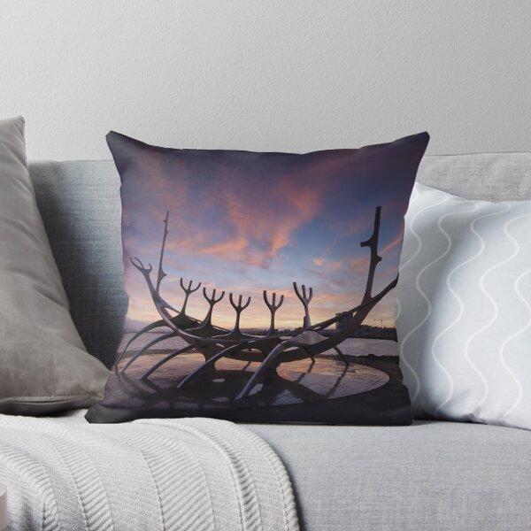 The Viking Ship Throw Pillow