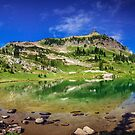 Mountain Lake Pano by Jonicool