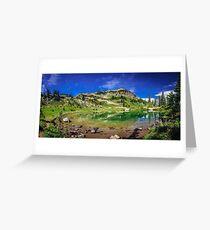 Mountain Lake Pano Greeting Card