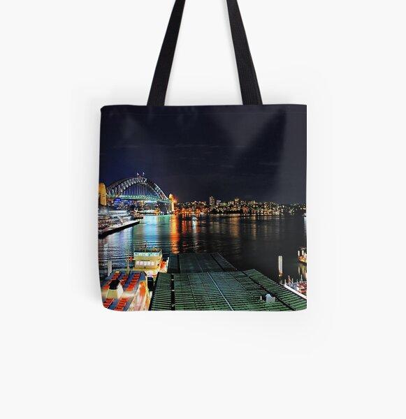 Circular Quay ferry wharf All Over Print Tote Bag