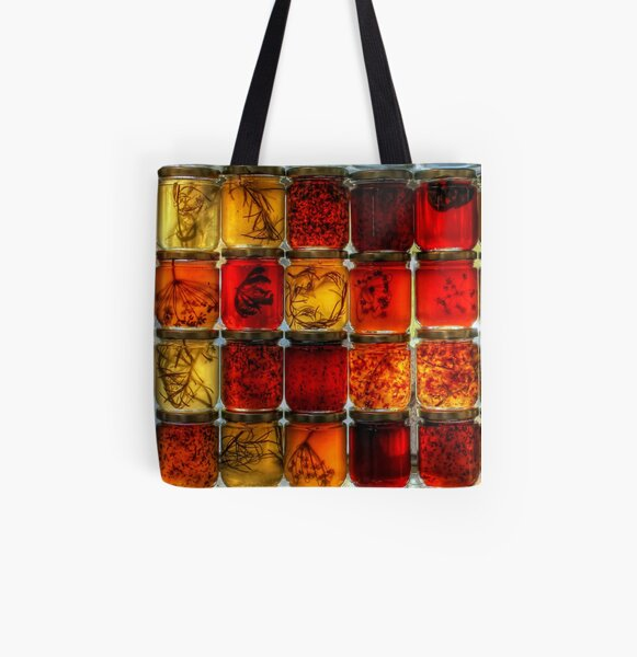 A Taste of Fall All Over Print Tote Bag