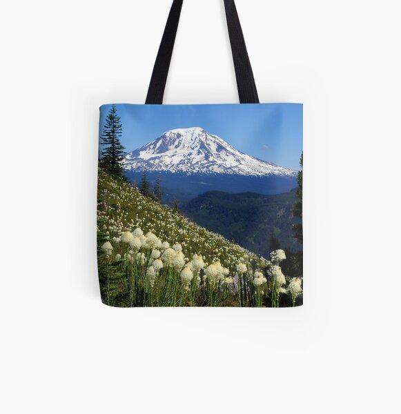 Mt Adams & Beargrass All Over Print Tote Bag
