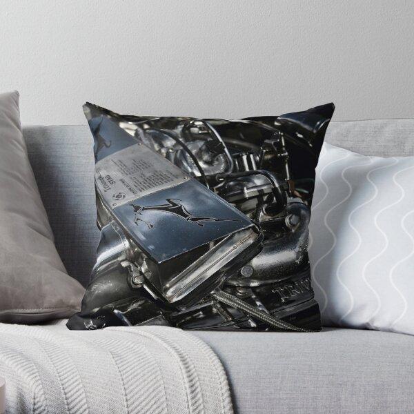 Triumph Stag Classic Car Engine Throw Pillow
