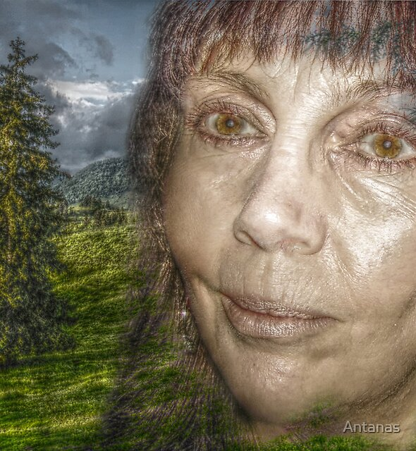 Women with brown eyes by Antanas