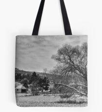 Winter BW Tote Bag