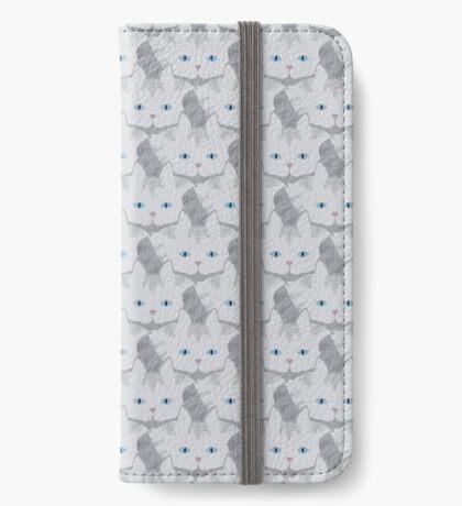 Light Grey #01  Tabby Cat Cattern [Cat Pattern] iPhone Wallet