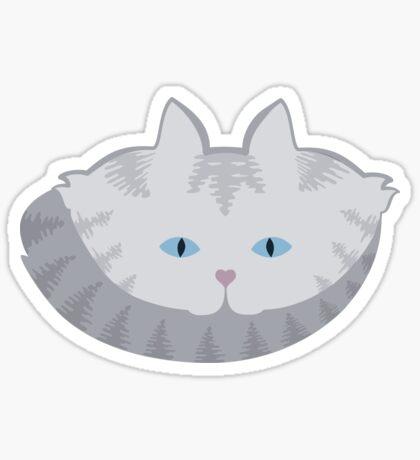 Light Grey #01  Tabby Cat Cattern [Cat Pattern] Sticker