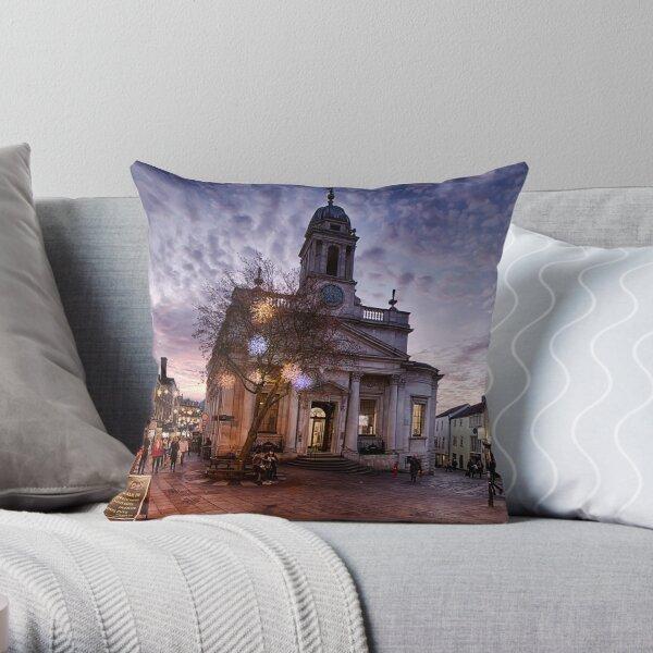 London Street, Norwich Throw Pillow